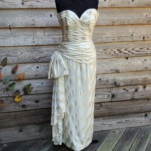 Victor Costa Vintage 1980 Gown Strapless 10 NWT